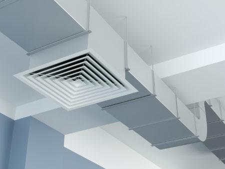 An industrial HVAC air duct